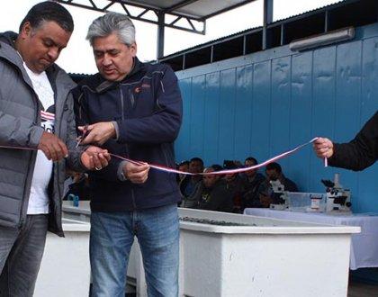 Inauguran primer centro de cultivos para la producción de especies marinas con agua de mar procedente de la minería